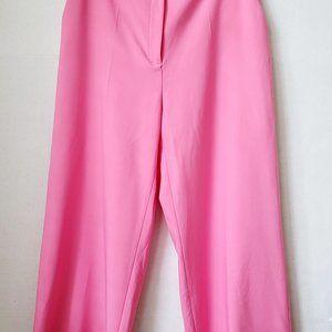 Zara Pink Wide Leg Trouser Pant Size Large